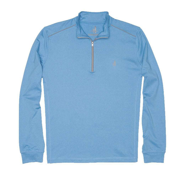 Men's Pullover - Lammie 1/4 Zip Prep-Formance Pullover In Light Blue By Johnnie-O