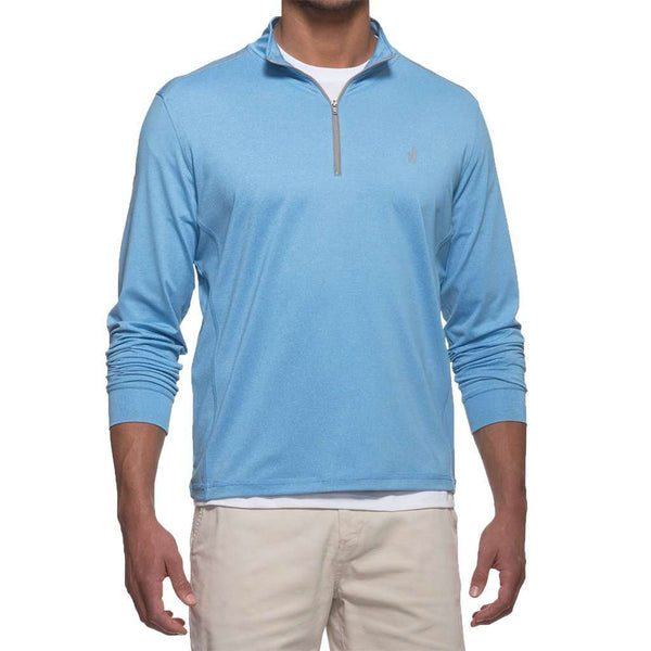 Lammie 1/4 Zip Prep-Formance Pullover in Light Blue by Johnnie-O