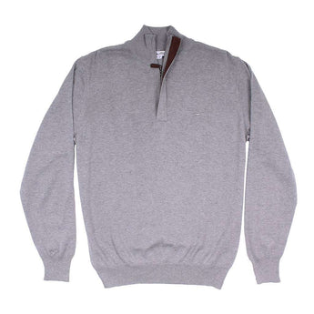 Men's Pullover - The Hayward 1/4 Zip In Grey By Southern Point Co. - FINAL SALE