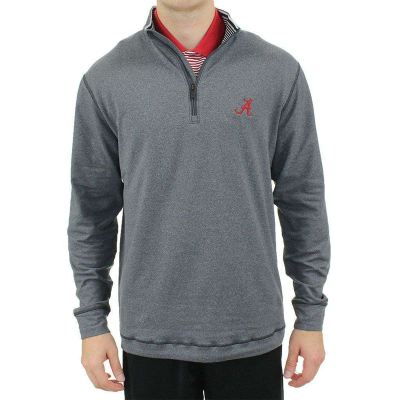Men's Pullovers - Alabama Drytec Topspin Half Zip Pullover In Charcoal By Cutter & Buck - FINAL SALE