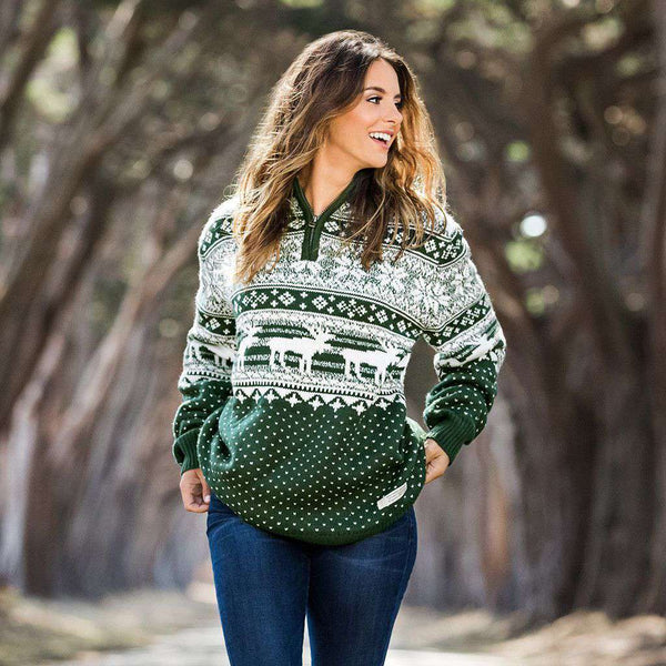 Men's Pullovers - Banff Pullover In Dark Green By Southern Marsh - FINAL SALE