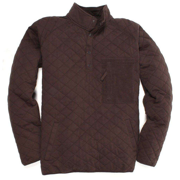 Men's Pullovers - Barrett Pullover In Bark By Southern Proper - FINAL SALE