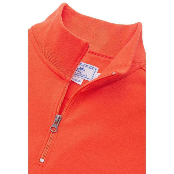 Clemson University Gameday Skipjack 1/4 Zip Pullover in Endzone Orange by Southern Tide