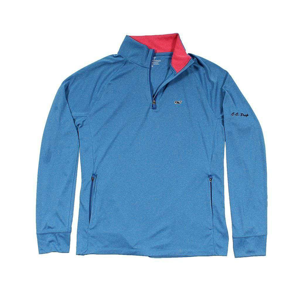0ffa3e15 Custom Nine Mile Performance 1/4 Zip in Azure Blue by Vineyard Vines. $ 125