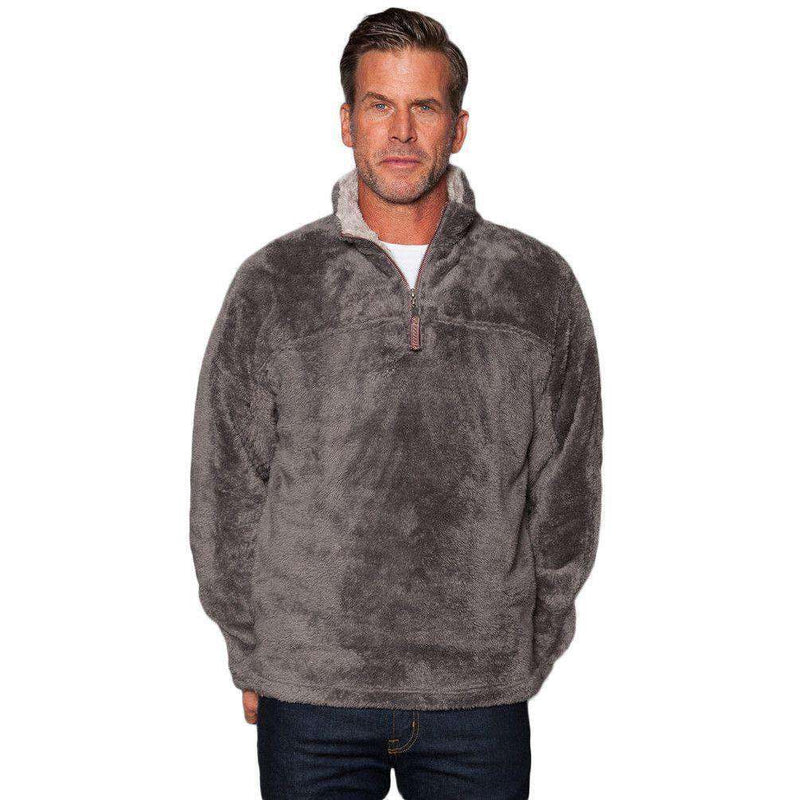Double Plush 1/2 Zip Pullover in Charcoal by True Grit - FINAL SALE