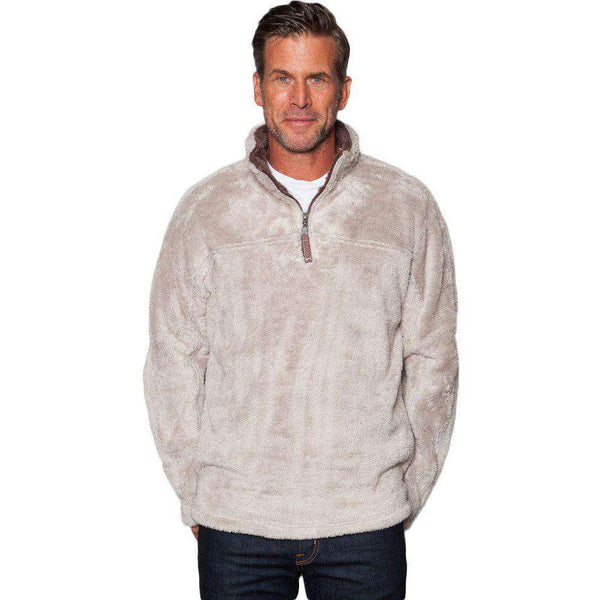 Double Plush 1/2 Zip Pullover in Oatmeal by True Grit - FINAL SALE