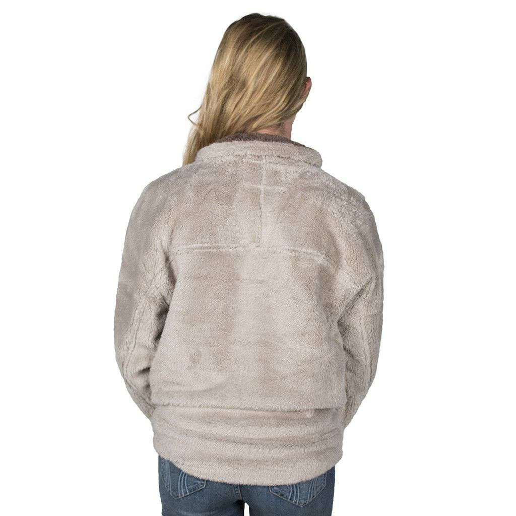 Men's Pullovers - Double Plush 1/2 Zip Pullover In Oatmeal By True Grit