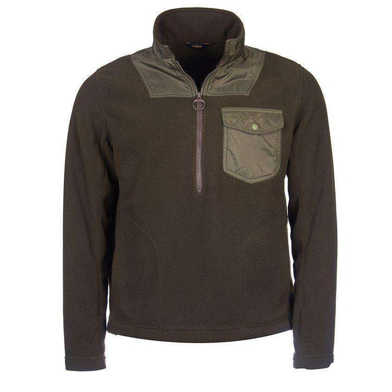 Men's Pullovers - Farimond Fleece Pullover In Olive By Barbour