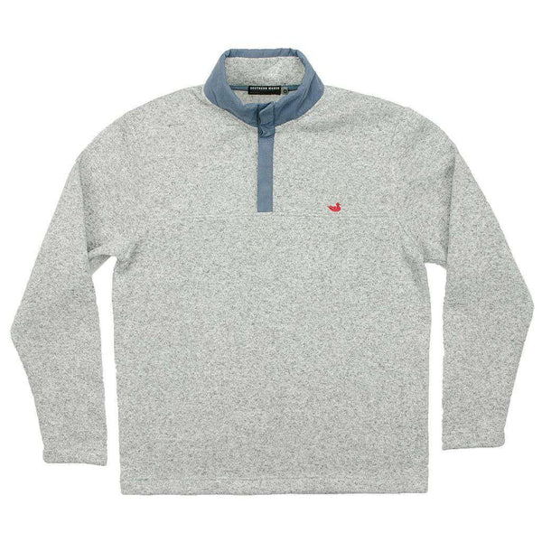 Men's Pullovers - FieldTec Woodford Snap Pullover In Avalanche Gray By Southern Marsh - FINAL SALE