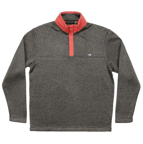 Men's Pullovers - FieldTec Woodford Snap Pullover In Midnight Gray By Southern Marsh