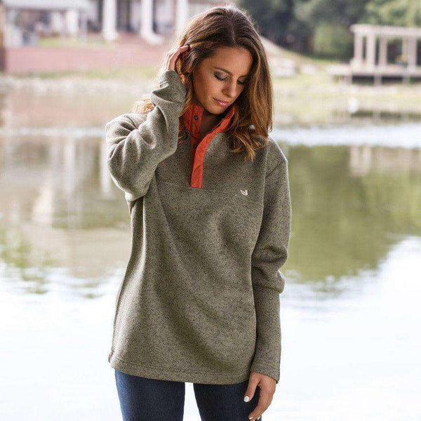 Men's Pullovers - FieldTec Woodford Snap Pullover In Sandstone By Southern Marsh - FINAL SALE