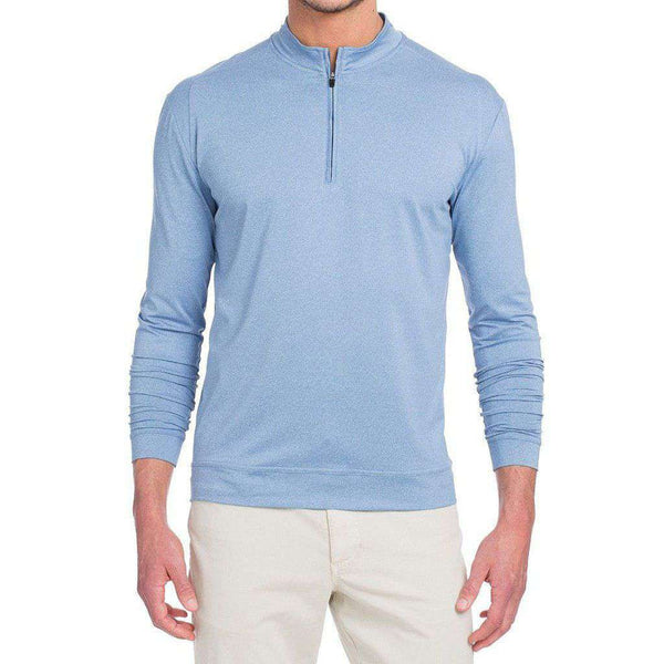 Flex Prep-Formance 1/4 Zip Pullover in Laguna Blue by Johnnie-O - FINAL SALE