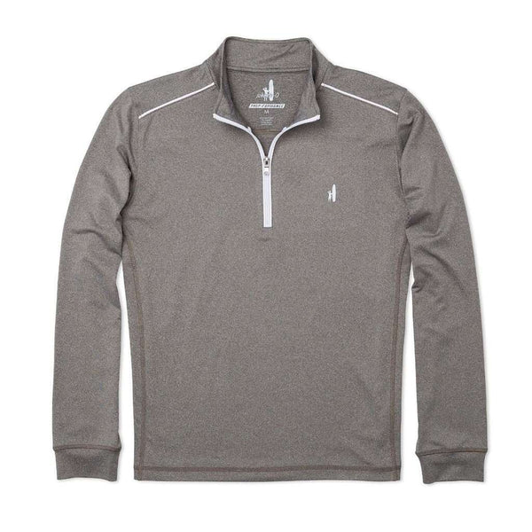 Men's Pullovers - Lammie 1/4 Zip Prep-Formance Pullover In Meteor By Johnnie-O - FINAL SALE