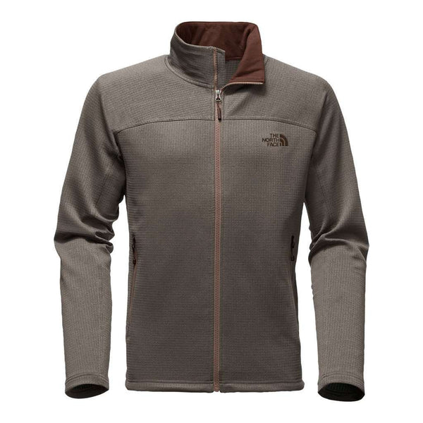 Men's Pullovers - Men's Needit Full Zip Fleece Pullover In Falcon Brown Heather By The North Face - FINAL SALE