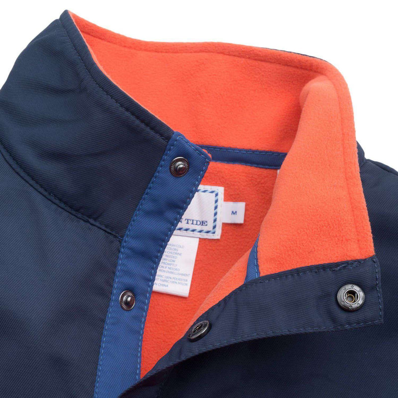 Men's Pullovers - Navigational Fleece Pullover In Orange Sky By Southern Tide