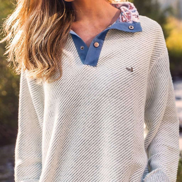Men's Pullovers - Pawleys Rope Pullover In Oatmeal By Southern Marsh - FINAL SALE