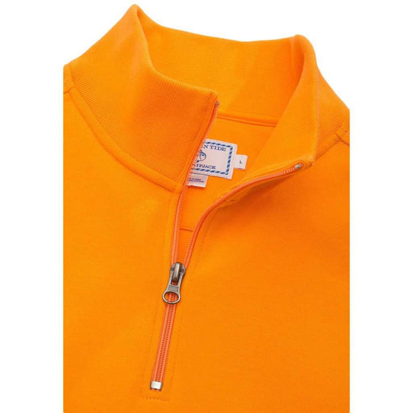 Men's Pullovers - University Of Tennessee Gameday Skipjack 1/4 Zip Pullover In Orange By Southern Tide