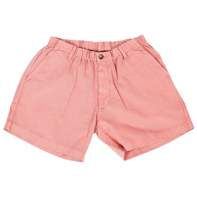 "Men's Shorts - 5 1/2"" Snappers Shorts In Salmon By Vintage 1946"