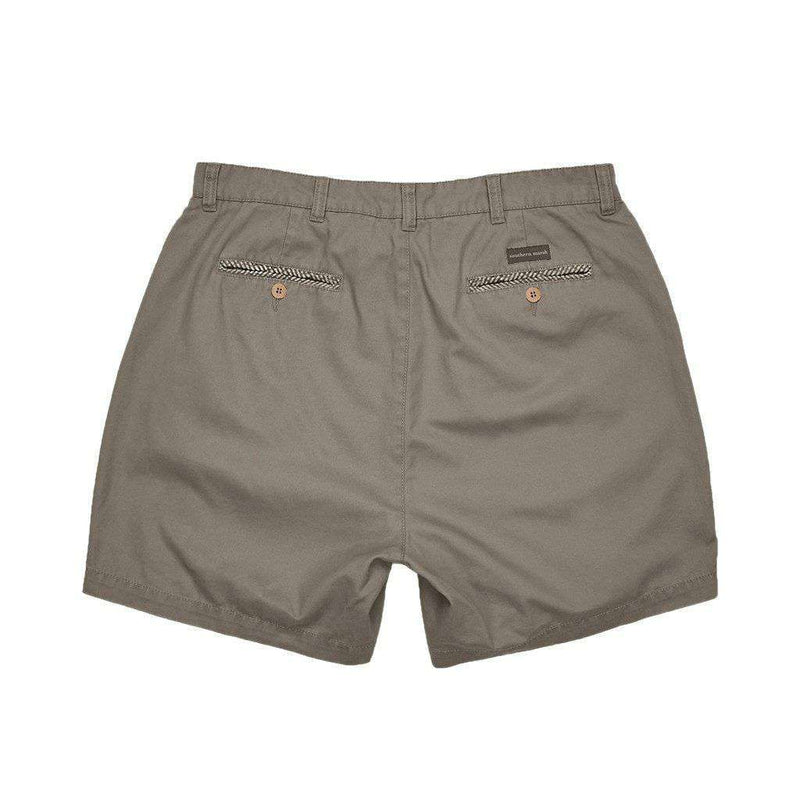 "6"" SEAWASH™ Charleston Short in Burnt Taupe by Southern Marsh"