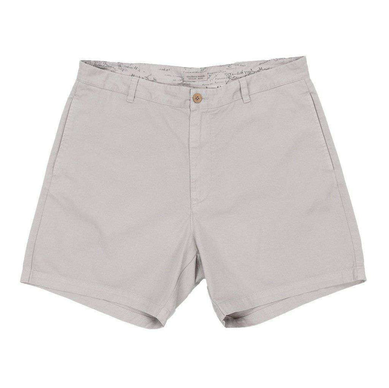 "Men's Shorts - 6"" SEAWASH™ Charleston Short In Washed Grey By Southern Marsh"