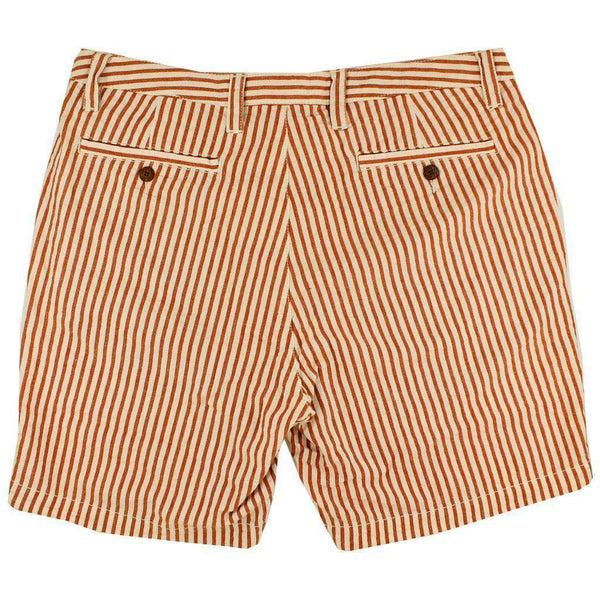 "7"" Seersucker Walking Shorts in Burnt Orange by Olde School Brand - FINAL SALE"