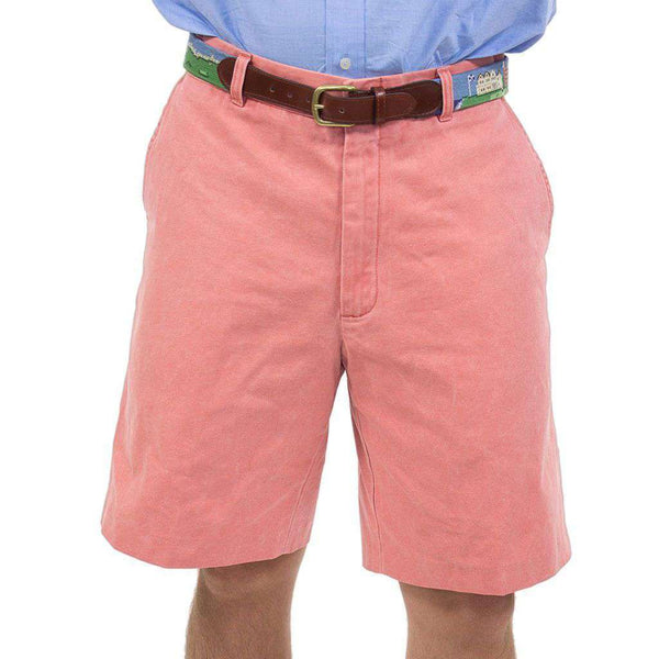 Men's Shorts - Authentic Nantucket Red Plain Front Shorts By Murray's Toggery