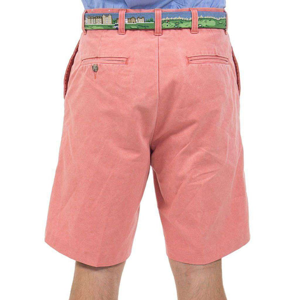 Country Club Prep Plain Front Shorts in Faded Red by Country Club Prep