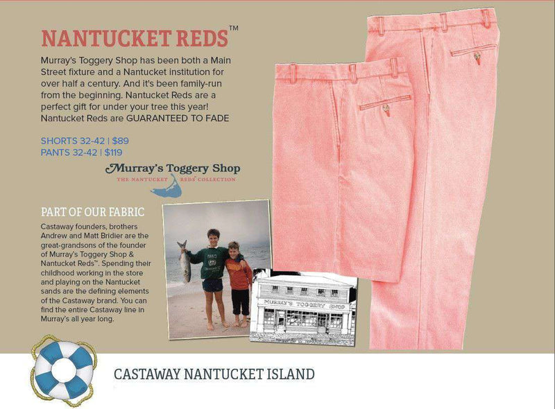 Men s Shorts - Authentic Nantucket Red Plain Front Shorts By Murray s  Toggery b82a8e6206