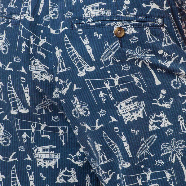 Men's Shorts - Beach Party Short In True Navy By Southern Tide