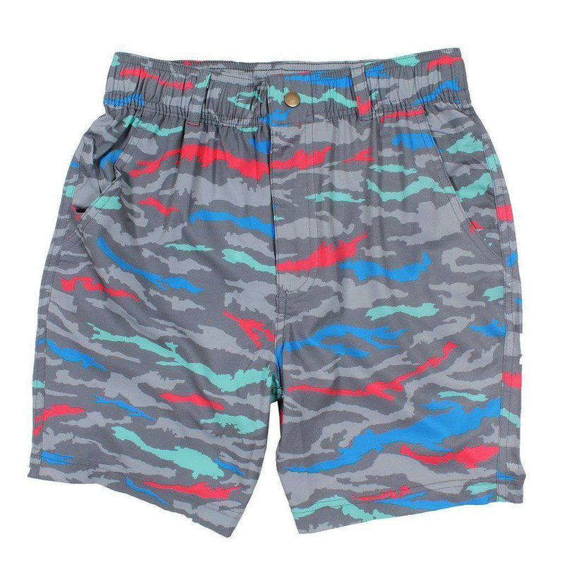 Men's Shorts - Chillaxer Shorts In Underwater Camo By Waters Bluff - FINAL SALE