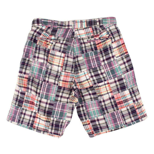 Cisco Short in Somerset Patch Madras by Castaway Clothing - FINAL SALE