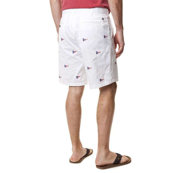 Cisco Short in White with American Burgee by Castaway Clothing - FINAL SALE