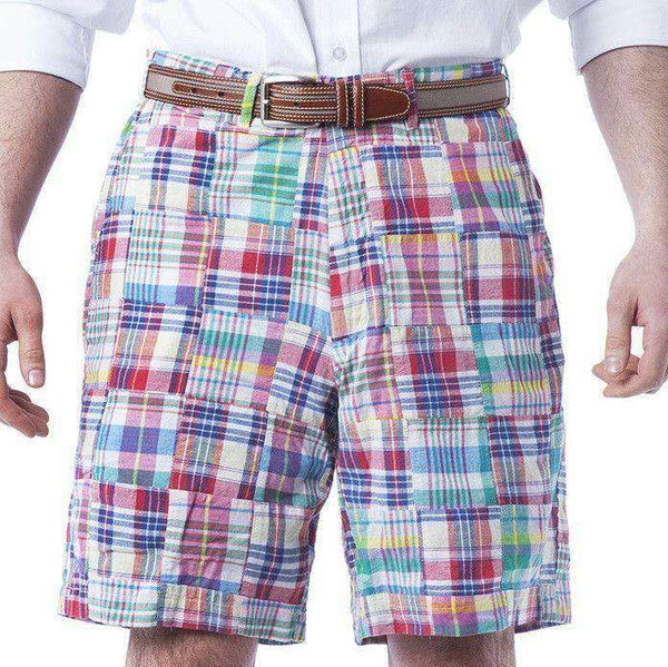 Cisco Shorts in Columbus Patch Madras by Castaway Clothing