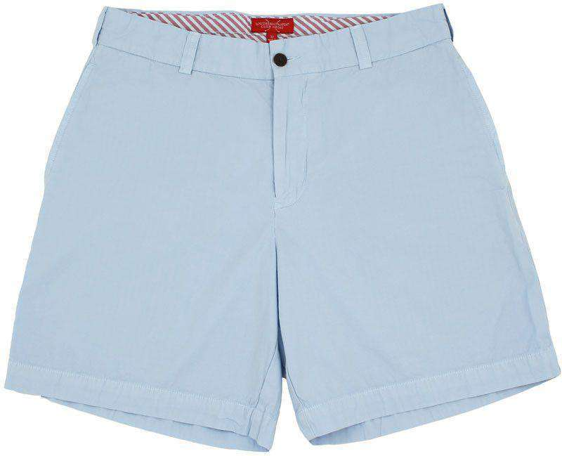 Men's Shorts - Club Short In Powder Blue By Southern Proper