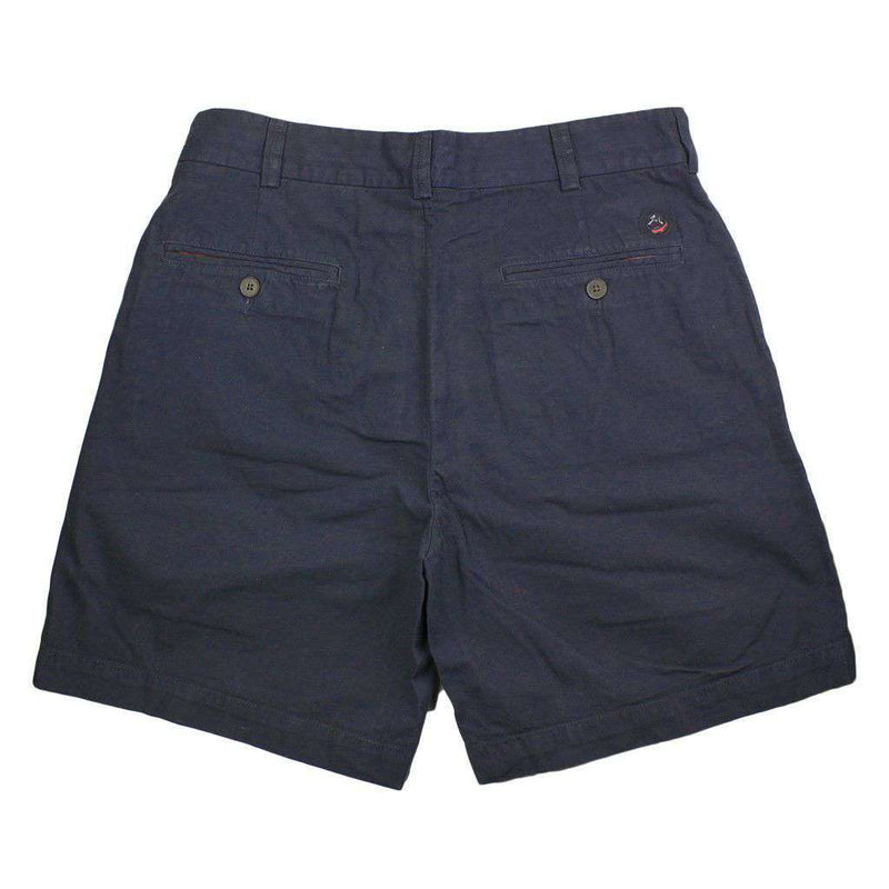 Men's Shorts - Club Short In Washed Navy By Southern Proper