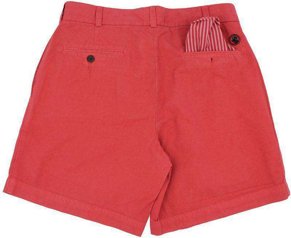 Club Short in Washed Red by Southern Proper - FINAL SALE
