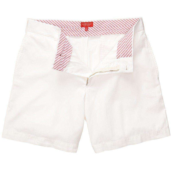 Club Short in White by Southern Proper