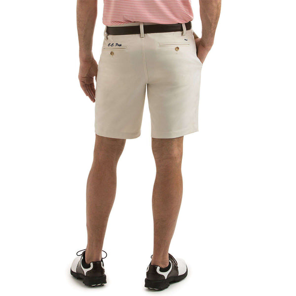 Custom 9 Inch Links Shorts in Stone by Vineyard Vines