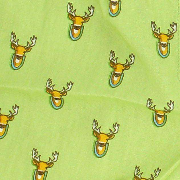 Deer Season Sporting Boxers in Green by Bird Dog Bay