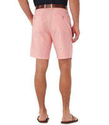 Double-Sided Seersucker Shorts in Coral Beach Pink by Southern Tide
