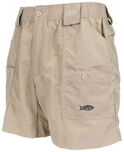 Men's Shorts - Fishing Shorts In Khaki By AFTCO