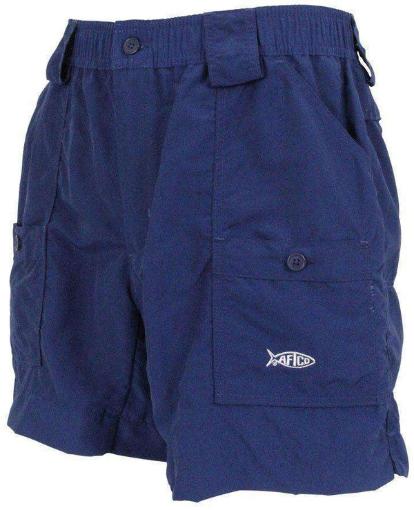 Men's Shorts - Fishing Shorts In Navy By AFTCO