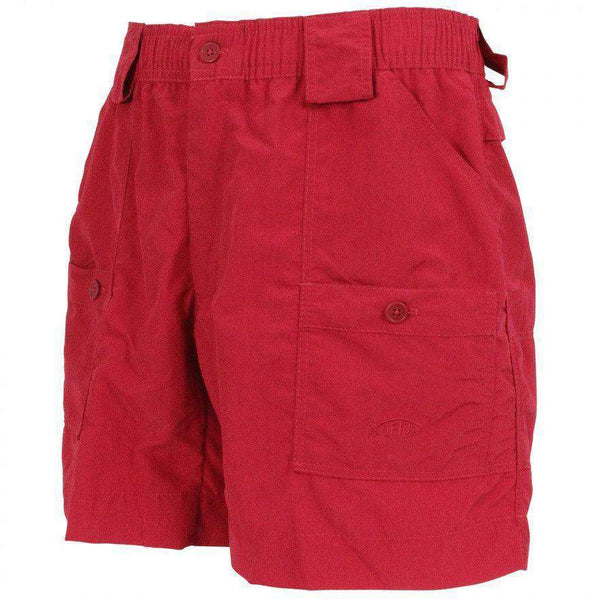 Men's Shorts - Fishing Shorts In Red By AFTCO