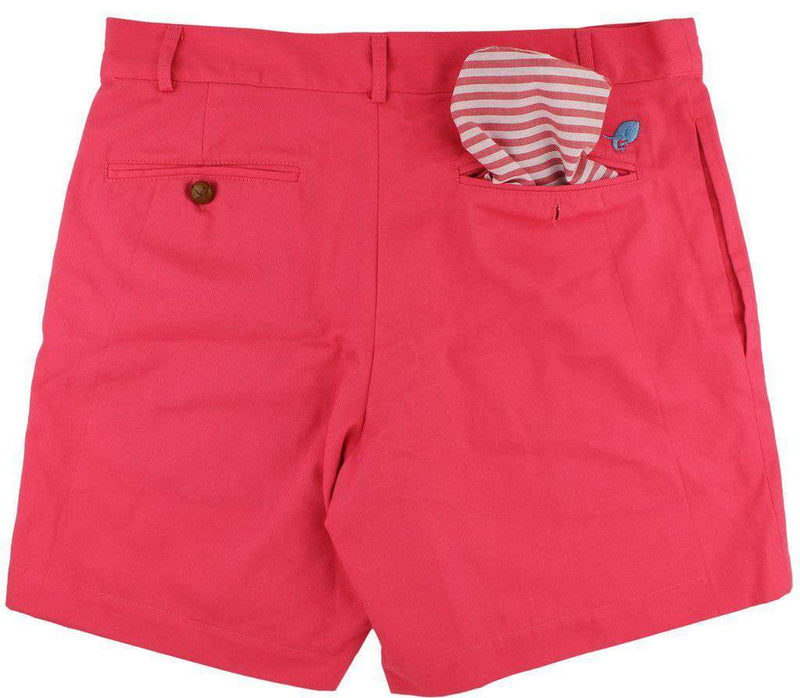 Men's Shorts - Freedom Shorts In Lobster Red/Fushia By Blankenship Dry Goods - FINAL SALE