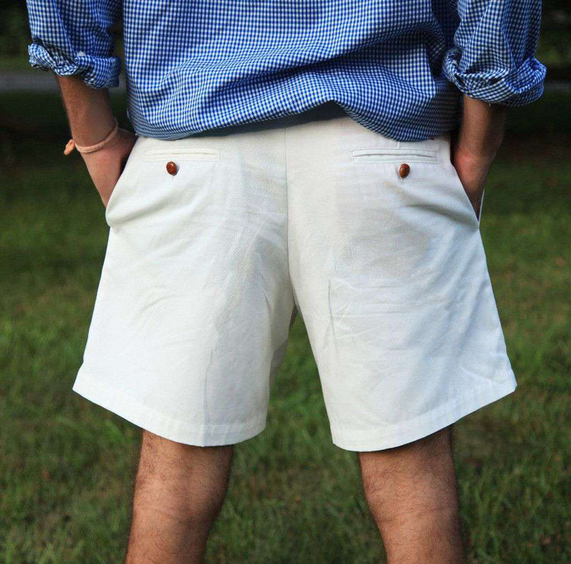 Men's Shorts - Freedom Shorts In Tea Olive White Twill By Blankenship Dry Goods - FINAL SALE