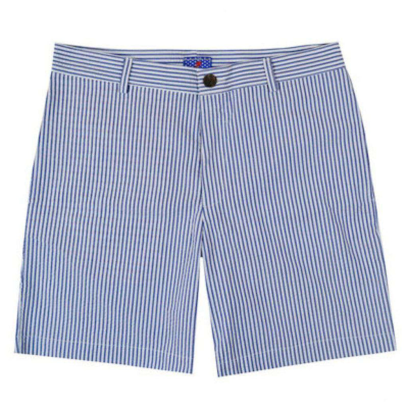 Men's Shorts - Freedom Shorts With 9 Inch Inseam In Newport Seersucker By Blankenship Dry Goods - FINAL SALE