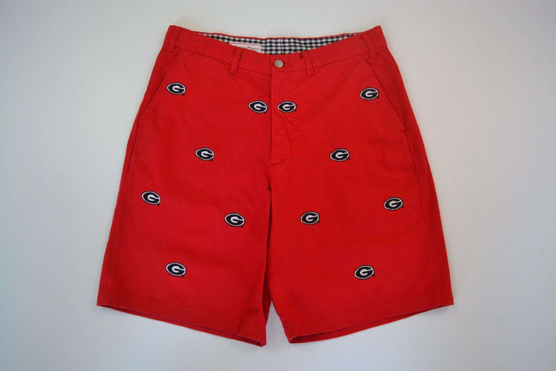 Men's Shorts - Georgia Stadium Short In Red By Pennington & Bailes
