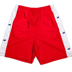 Men's Shorts - Head Of State Shorts In Red By Krass & Co. - FINAL SALE