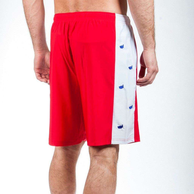Head of State Shorts in Red by Krass & Co. - FINAL SALE