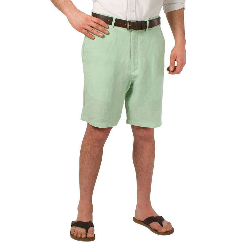 Lighthouse Linen Shorts in Seafoam Green by Castaway Clothing - FINAL SALE